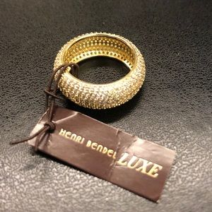 Henri Bendel Luxe Pave Ring size 7 NWT